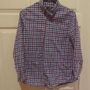 Vineyard Vines boys button down flannel shirt